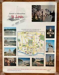 St. Louis 1960's Souvenir Vintage Tourism Poster - Cardinals & Sportsman's Park!