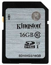Kingston SDHC Class 10 UHS-I Card - 16GB