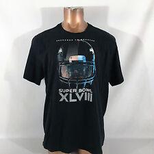 Nike 100% Cotton Black Super Bowl 48 (Seahawks/Broncos) T-Shirt 2XL