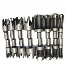 16pcs Wood Plug Cutter / Cutting Set Dowel Maker Tool Round Shank Drill Bits New