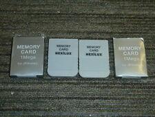 2 X PLAYSTATION 1 PS1 PSONE 1MB Scheda di memoria 15 blocco di 1 MB Nuovo di Zecca MEM GRIGIO LOTTO