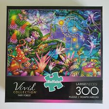 "Buffalo Puzzle 300 Large Pieces 21"" x 15"" Fairy Forest Vivid Collection"