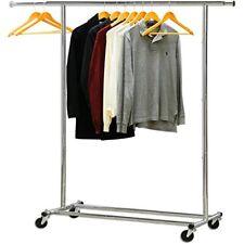 Heavy Duty Clothing Garment Rack Chrome Home Ampamp Kitchen