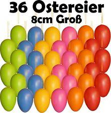 große Ostereier Unifarben Ca 8cm für Garten oder Drinnen Oster Eier