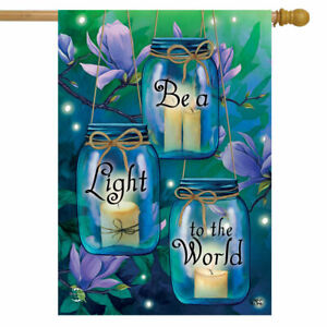 Be A Light To The World Spring House Flag Inspirational 29.5 x 39.5 inch