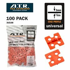 ATR TILE LEVELING SYSTEM 100 PIECES 3mm Universal Edge plate-Tile Level System