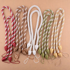 Pair Braided Satin Rope Tie Back Tiebacks Curtain Voile Holder Window Cord ti