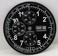 Watch dial for ETA Valjoux 7750 unused black - XXL dial new tachymeter cc1