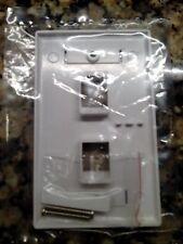 100 -2 Port Keystone Faceplate White w/Windows RJ45 Face Plate USA SELLER!