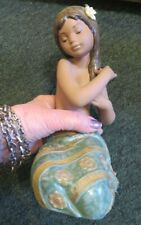Lovely Lladro Pacific Jewel Island Girl #2383, 1985 Woe, Made In Spain As Is