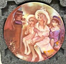 LIMOGES TURGOT Guignol Au Luxembourg Children at the Puppet Show Collector Plate