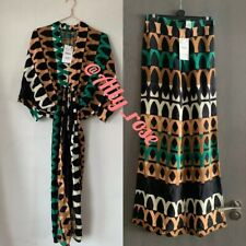 Zara 2 Piece Printed Midi Tunic Dress & Trousers Co Ord  SET. Size XS
