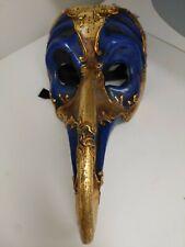 Handmade in Venice; Venetian Masquerade Mask - Vivaldi Scaramouche hooked nose
