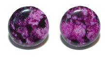 "3/4"" ROUND PURPLE CRAZY AGATE CUFF LINKS (197a)"