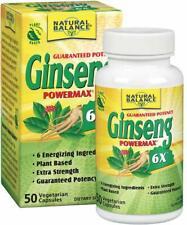 Ginseng PowerMax, Natural Balance, 50 capsules 6X