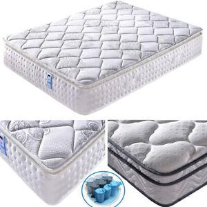 Memory Foam Mattress Sprung Spring Mattress Medium Firm White 3ft 4ft 5ft King