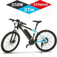 26'' 27'' EBike Electric Bike Mountain Bicycle Damping Cycling 24 Speed 350W