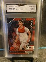 2020 Panini Prizm Draft LaMelo Ball Red Wave Rookie RC #43 Gem Mint 10