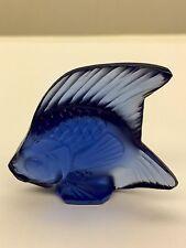 Lalique Crystal Fish - sapphire blue