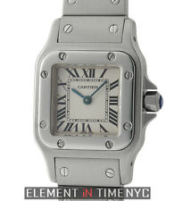 Cartier Santos Galbee Stainless Steel Lady 24mm Silver Dial Quartz W20056D6