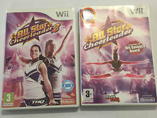 2x PAL COMPLETE NINTENDO Wii DANCE VIDEO GAME ALL STAR CHEERLEADER 1 I & 2 II