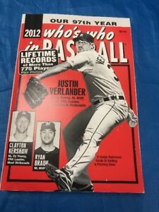 "2012 WHO'S WHO IN BASEBALL BOOK JUSTIN VERLANDER FRONT COVER ""SALE"""