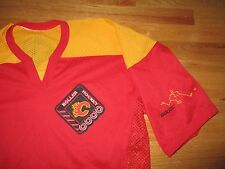 Bauer CALGARY FLAMES (LG) Roller Hockey Mesh Jersey w/ Patch
