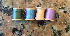 Four Rolls 1950S Coats And Clark Thread Wooden Spools