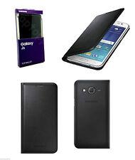 Genuine Samsung Funda para Estuche Abatible de Cuero Cartera Soporte Tarjeta para Galaxy J5 Negro