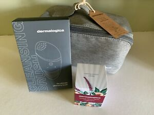 DERMALOGICA KIT; CLEANSING BRUSH, CANDLE AND ECO WASHBAG, NEW