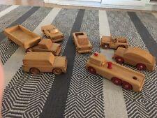 Vintage Playskool Wooden CARS 50's? 60's?