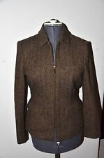 WOMENS SIZE 6 LAUREN, RALPH LAUREN ZIP UP WOOL BLAZER JACKET LINED NICE!