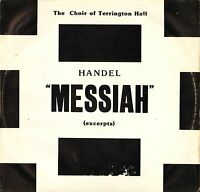THE CHOIR OF TERRINGTON HALL/HANCOCK handel messiah excerpts SN 262 LP PS EX/VG