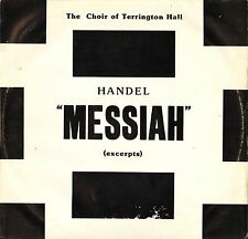 THE CHOIR OF TERRINGTON HALL/HANCOCK handel messiah excerpts SN 262 LP PS EX/VG