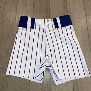 Vtg Coach Shorts MENS SMALL Gym Baseball Softball Pin Striped Polyester 80s 90s