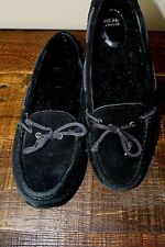 Cole Haan Grand OS Women's Black Suede Driving Mocs Flats Slip On Shoes 8.5 B