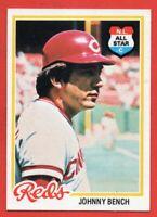 1978 Topps #700 Johnny Bench NEAR MINT+ HOF Cincinnati Reds FREE SHIPPING