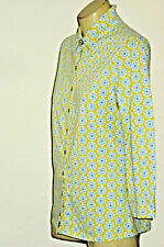 BODEN StarPrintCollaredStretch3/4Slvd SizeS EUC