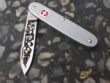 Victorinox Swiss Army Knife 93mm Pioneer Solo  Alox Castom engraving 2 colors