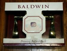 Baldwin Privacy Wave Lever Brass
