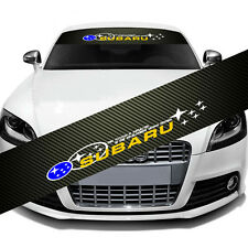 SUBARU IMPREZA Car Window Windshield Carbon Fiber Vinyl Banner Decal Sticker DIY