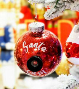 Santa CAM Christmas Tree Bauble, fake camera lens, Santa is watching you