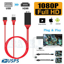 1080P HDMI Mirroring Cable Phone to TV HDTV Adapter For iPhone 11/ iPad/ Android