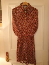 Boden Retro Seventies Geometric Print Shirt Dress Size 12R