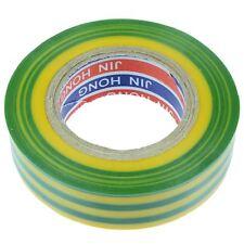 19mm x 20m Yellow/Green PVC Insulation Electrical Tape Flame Retardant