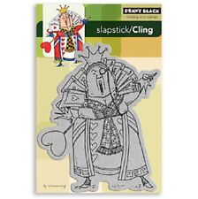 PENNY BLACK RUBBER STAMPS SLAPSTICK CLING QUEEN OF HEARTS NEW cling STAMP