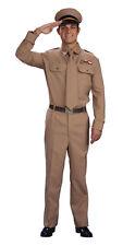 WORLD WAR 2 WW2 GENERAL ARMY SOLDIER MILITARY UNIFORM ADULT ONE SIZE FANCY DRESS
