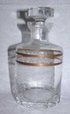 Date-Lined Glass Decanter Hand Blown