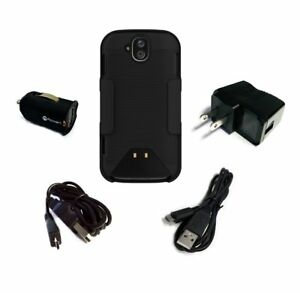 Kyocera Duraforce Pro Case and Belt Clip Holster with Wall and Car Charger