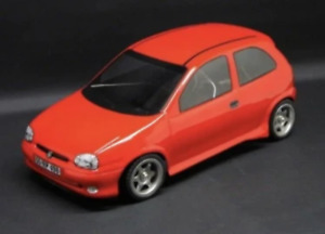 OPEL CORSA B - LEXAN BODY KIT 1:10 FOR M-CHASSIS INCL. DECALS # 11130